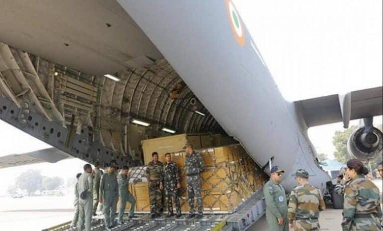 IAF supplies 25 tonnes medical supplies